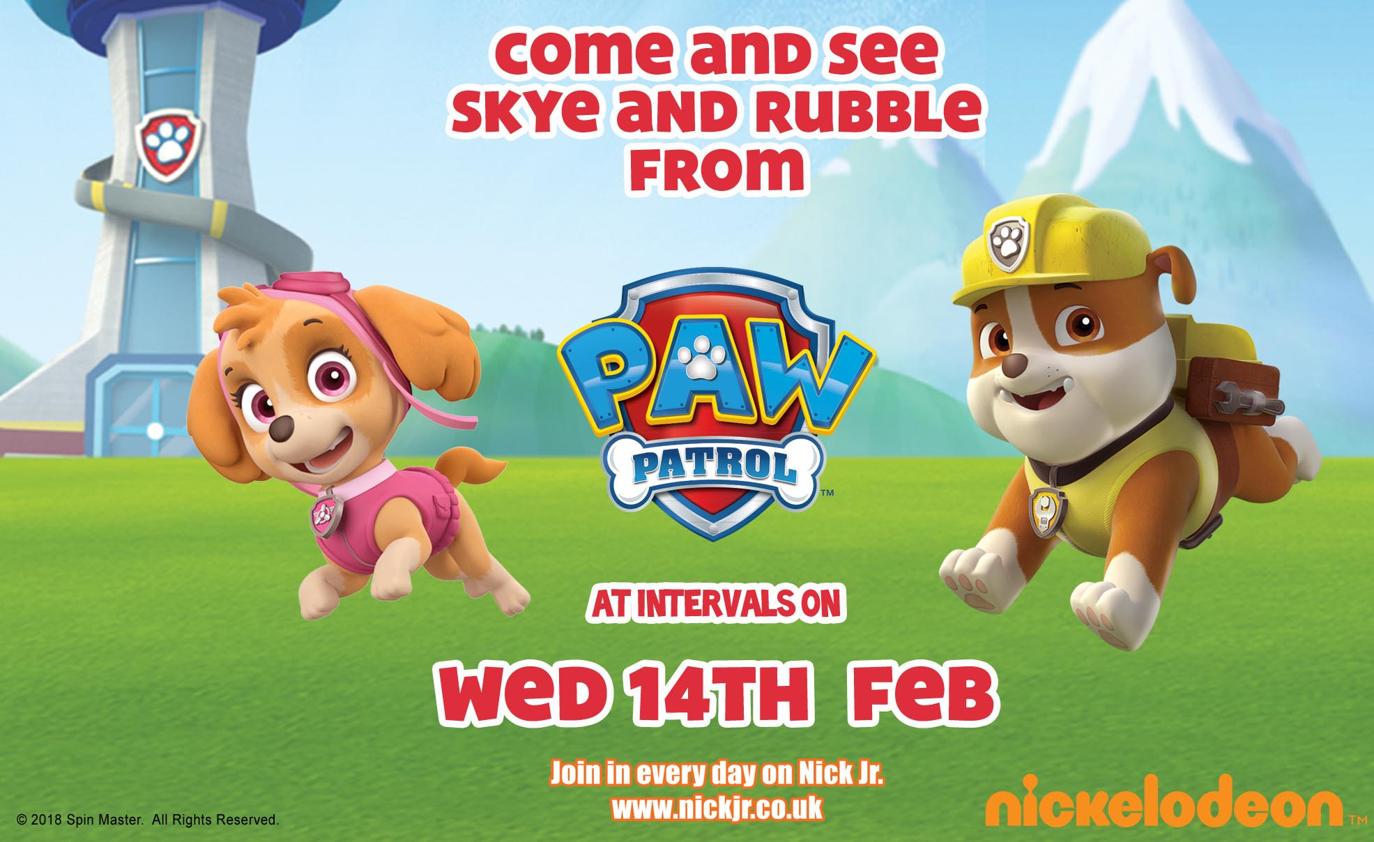 Skye and Rubble from PAW Patrol Get Ready to Make Their